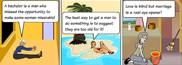 One-liner cartoons